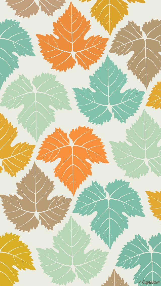 <3 autumn leaves aqua teal turquoise orange gold green