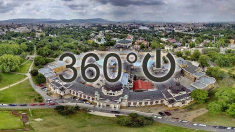 Széchenyi fürdő - Interaktív panoráma légifotó