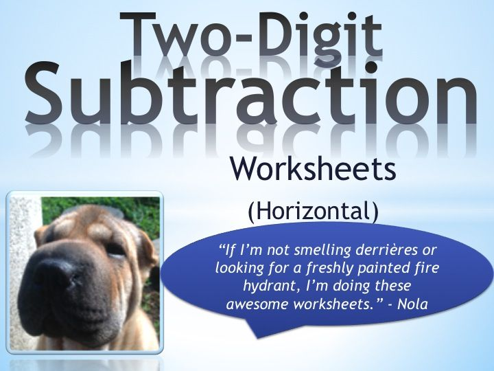 Subtraction Worksheets : vertical subtraction worksheets with ...