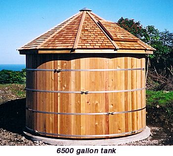 Water Tanks To Catch Rainwater Have A Tiered System The