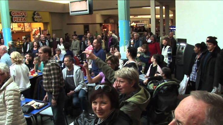 Flash Mob Christmas Carol Food Court