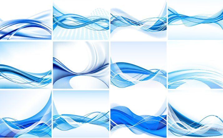 Blue Abstract Design Element Set