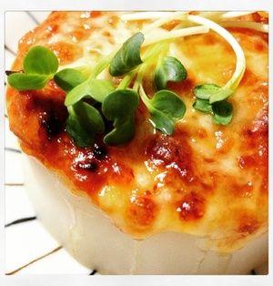 ビジュアルがたまらん(*´∀`*)とろけるチーズがこんがり♪ツナ味噌ふろふき大根♪
