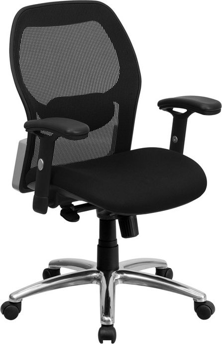 office chair mid back design ventilated mesh back material height