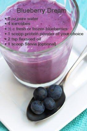 Blueberry Dream #proteinshakerecipes #homemadeproteinshake