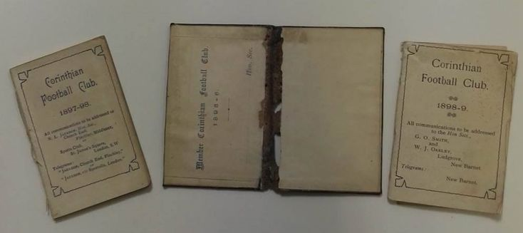 Corinthian FC 1895 - 99 handbooks