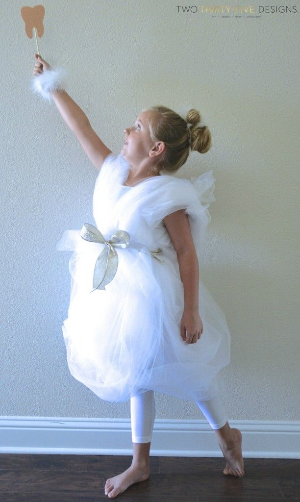 Looking for a fun and unique costume this Halloween? How about a DIY Tooth Fairy Costume!