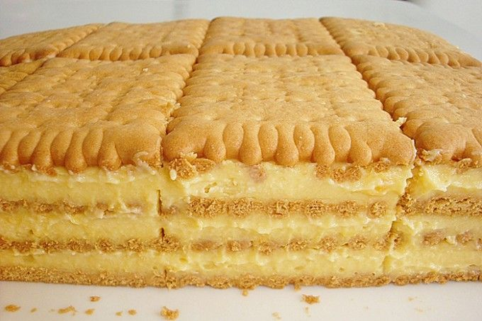 Keksíkový dort s vanilkovou příchutí | NejRecept.cz