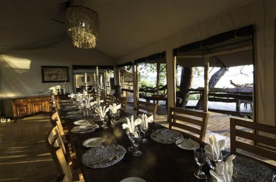 Dining area at Tubu Tree Camp (Okavango Delta, Botswana). If that looks like a place you wanna go to - just let us know: info@gondwanatoursandsafaris.com
