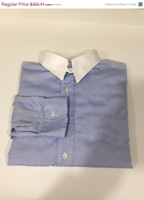 Vintage Brooks Brothers Made in USA Relaxed Fit 16/5 Loop Collar