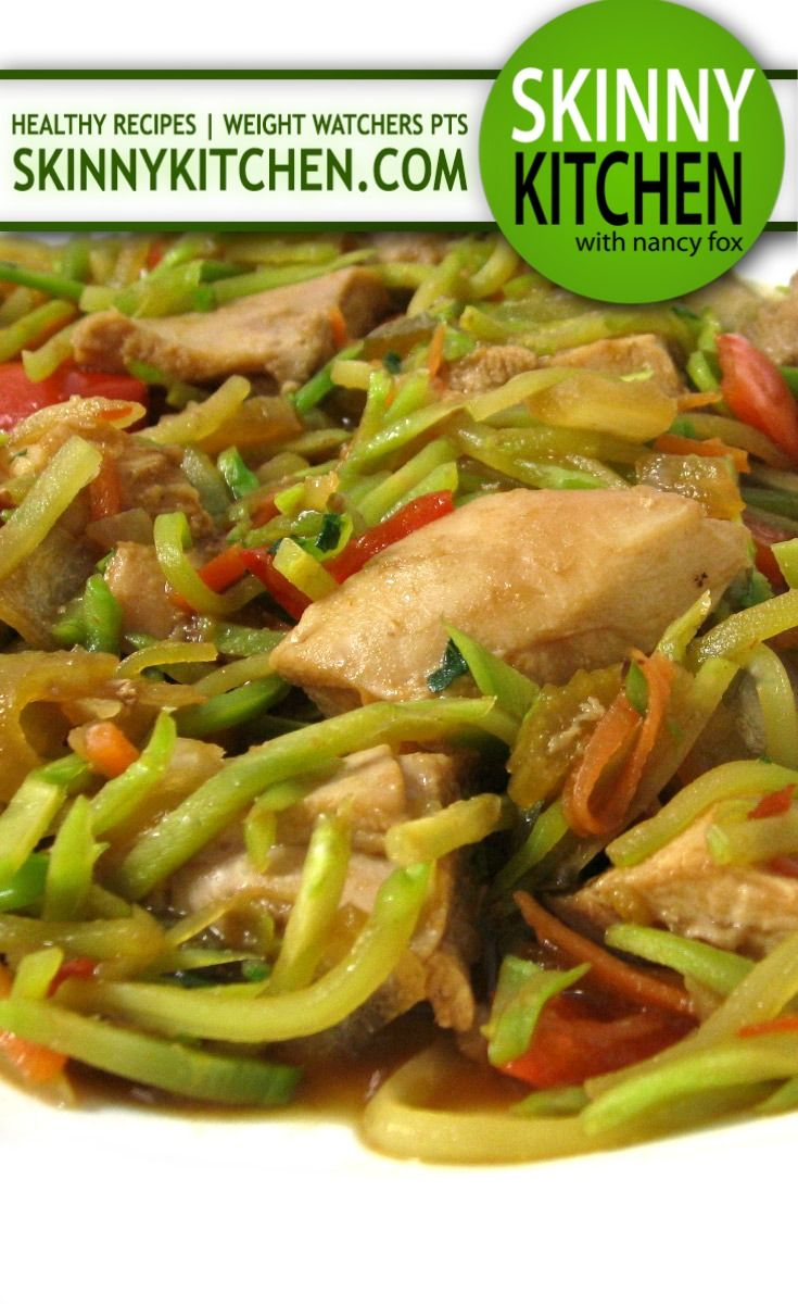 (Crock-pot) Skinny Asian Style Chicken and Vegetables. Delicious beyond words! Each serving, 200 calories, 1g fat and 5 Weight Watchers POINTS PLUS. http://www.skinnykitchen.com/recipes/crock-pot-skinny-asian-style-chicken-and-vegetables/