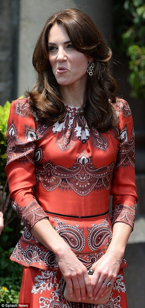 Catherine, Duchess of Cambridge arrives at The Taj Palace Hotel Mumbai as she begins the Tour of India and Bhutan in Mumbai, April 10, 2016.