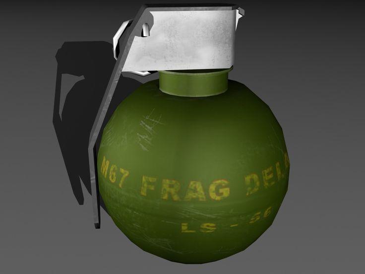 M67 Grenade 3D Max - 3D Model