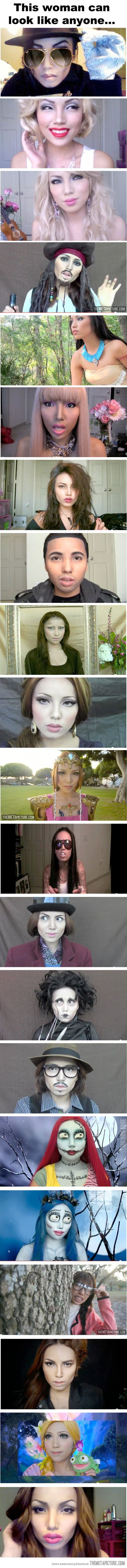 The incredible power of makeup… Incase you didnt know, her youtube is dope211 Aka promise phan