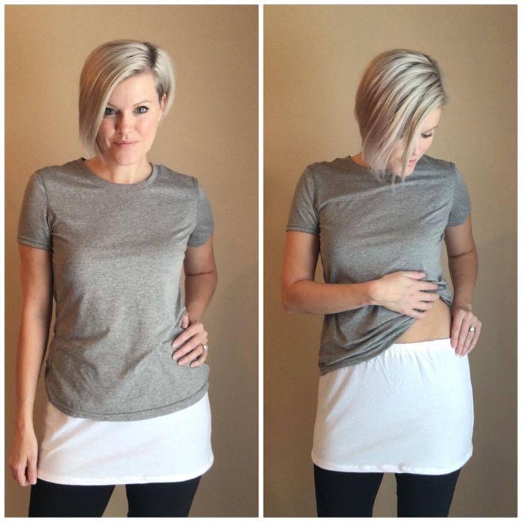 Shirt Extender White Knit