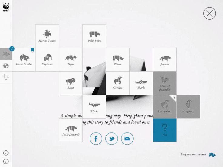 WWF App / Webdesign #concept #navigation