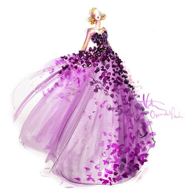 「A #mustown #preo or a framable piece of artwork... @paperfashion's sketch of #OscardelaRenta #FW15 look 52 is both! Post *your* favorite look from the…」