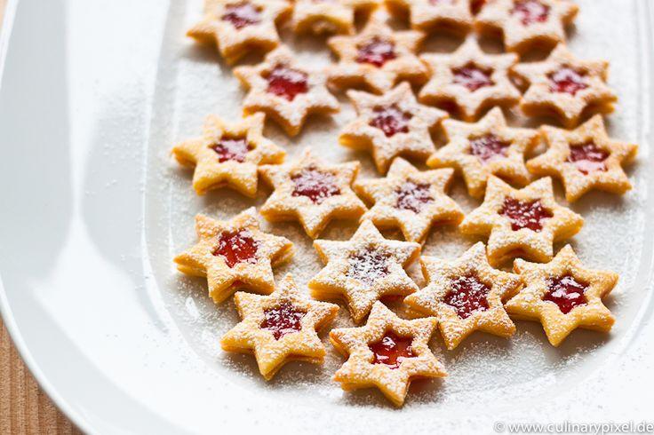 Spitzbuben Plätzchen Rezept mit Johannisbeer-Marmelade