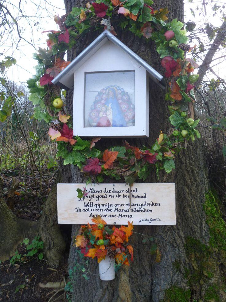 2014-01-01 Op vrijwel elk kruispunt van paden vindt je deze Maria- en Christus-vereringen