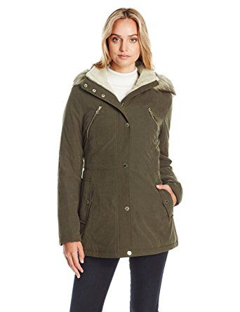 Nautica Women's Micro Fiber Parka Anorak With Hood/Faux Fur Trim Review