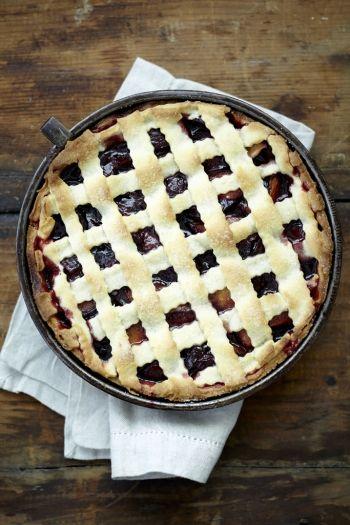 Plum and Cassis Lattice Pie on www.nomu.co.za