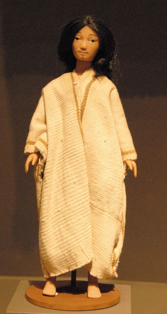 This doll represents a Lacandon Maya man from the selva lacandona region of the state of Chiapas Mexico. Zuno de Echeverria doll collection. Mexico City