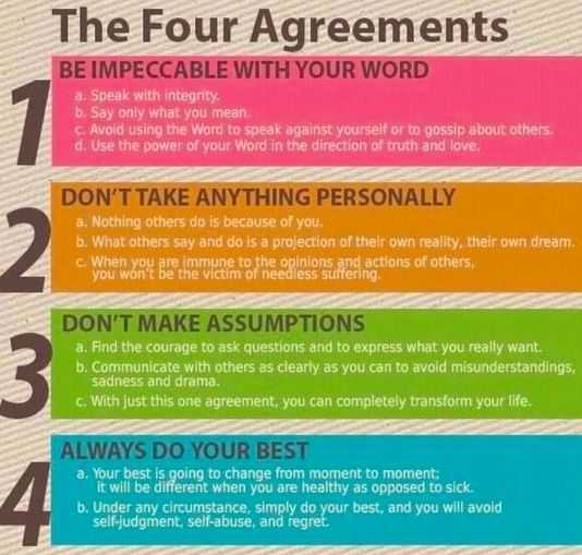 Recreation Therapy Ideas: The Four Agreements (for Self Care!)