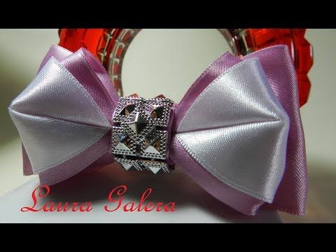 Moño para niña y bebe sin frunces !!!   Bow for girl and baby !!!  Бантики из Ленты. - YouTube