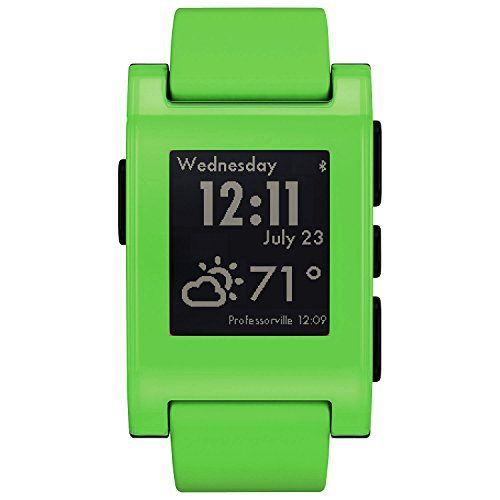 Pebble Smartwatch for iPhone and Android (Fresh Green) -- Click image to review more details.