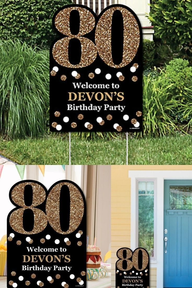 Cheers To 80 Years Party Theme 80th Birthday Party 80th Birthday Party Decorations 80th Birthday Decorations