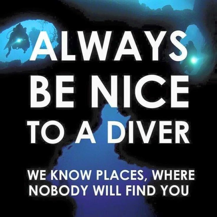 A bit of lively dark diving humor! Lol!