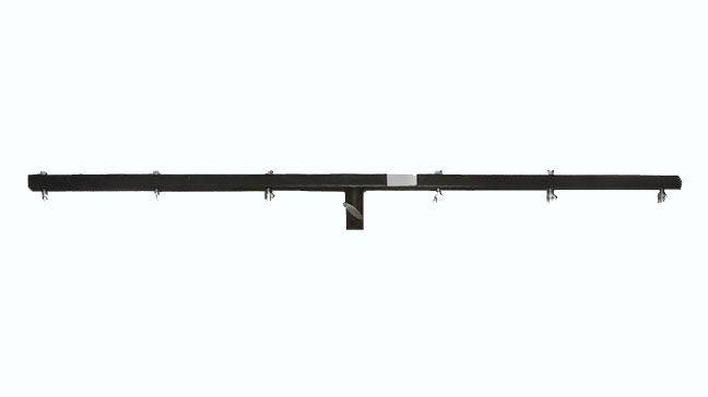 PL-570  - Barral fabricado en acero con acabado negro. - Posee una longitud de brazo de 1,5m. - Modelo incluído en los artículos PL-568 y PL-566. - También disponible por separado.