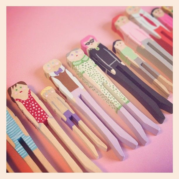 """Clothespin Dolls"""