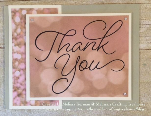 DIY Clean and Simple card using the So Very Much, Sale-A-Bration Stamp Set and the Falling in Love Designer Paper from the 2017 Occasions Catalog.