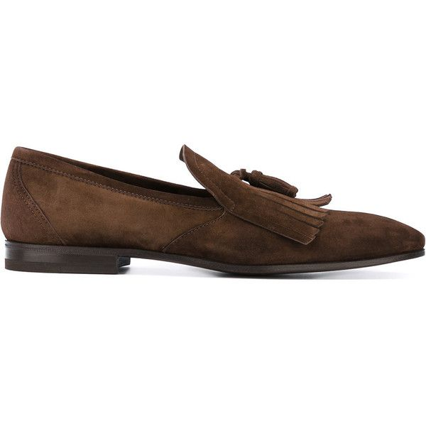Henderson Baracco tassel loafers ($461) ❤ liked on Polyvore featuring men's fashion, men's shoes, men's loafers, brown, mens brown loafer shoes, mens tassel loafer shoes, mens brown shoes, mens leather shoes and mens loafer shoes