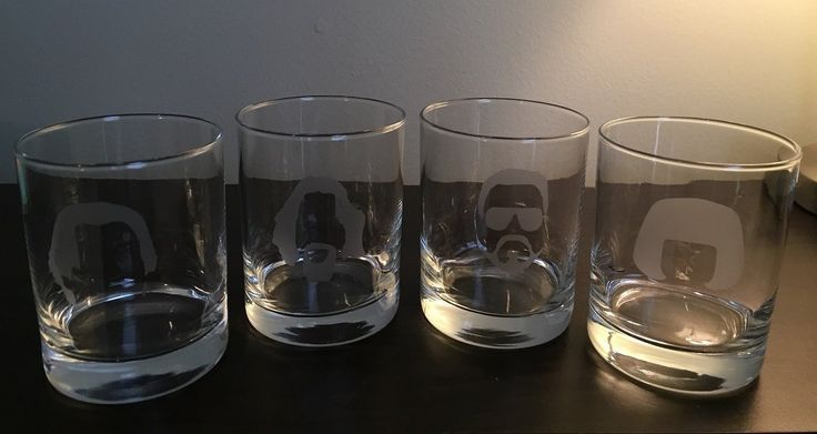The Big Lebowski Glasses - White Russian Glasses - 4 14 oz Double Rocks Glasses - The Dude - Walter - Donny- Maude - Lebowski - - The Dude Abides - - Los Angeles - Personalized Option
