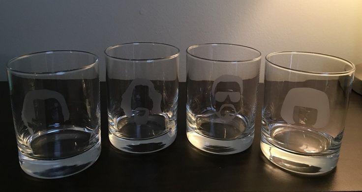 The Big Lebowski Glasses - White Russian Glasses - 4 14 oz Double Rocks Glasses - The Dude - Walter - Donny- Maude - Lebowski - - The Dude Abides - - Los Angeles - Personalized Option