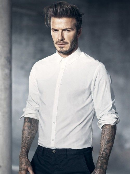 Looking for a similar white shirt as the one David Beckham is wearing