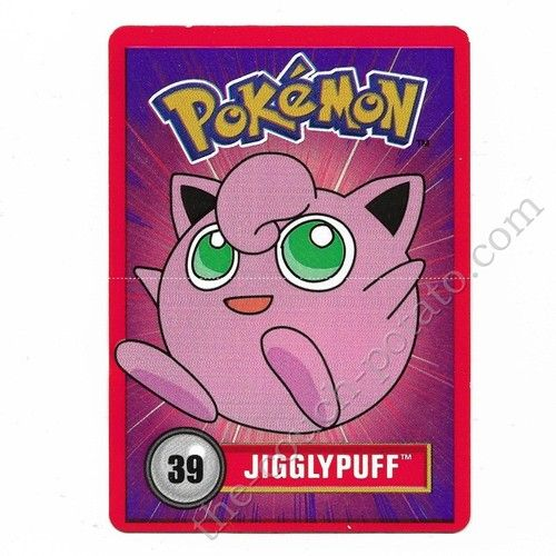 Pokemon card  Jigglypuff approx 2x3 inches Nintendo 1998