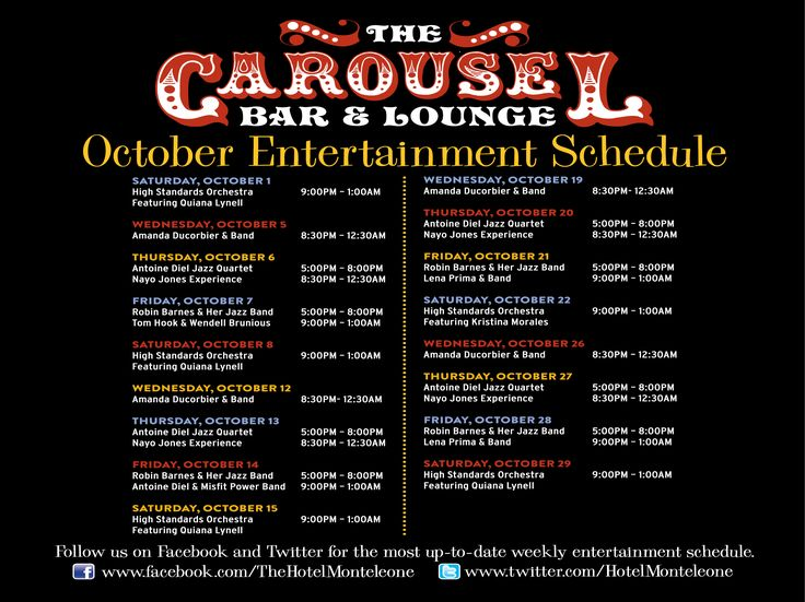 The famous Carousel Bar & Lounge in the Hotel Monteleone is a long-time New Orleans favorite. The French Quarter bar is the city's only revolving bar.