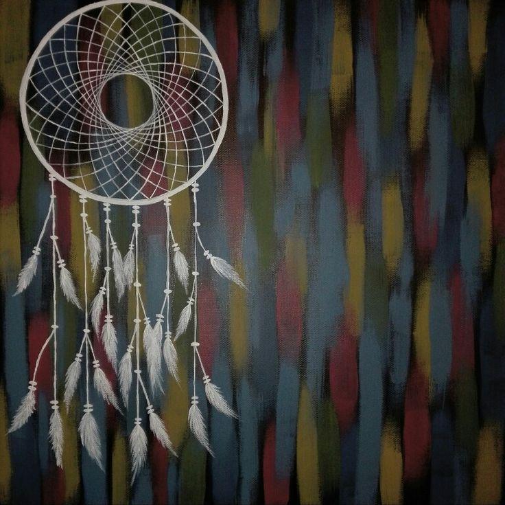 Painting, amulet, dream catcher