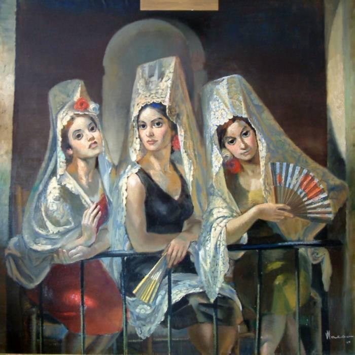 GRANADA    Granada, calle de Elvira,   donde viven las manolas,   las que se van a la Alhambra,   las tres y las cuatro solas.   Una vestida de verde,  otra de malva, y la otra,   un corselete escocés   con cintas hasta la cola.     Las que van delante, garzas   la que va detrás, paloma,   abren por las alamedas   muselinas misteriosas.  ¡Ay, qué oscura está la Alhambra!   ¿Adónde irán las manolas   mientras sufren en la umbría  el surtidor y la rosa?
