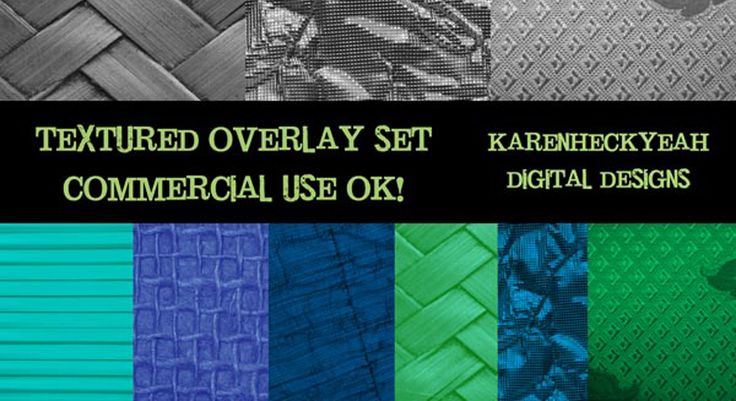 Textured Commercial Use Overlay Set