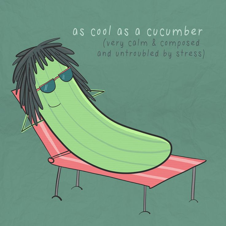As cool as a cucumber   #abitofhappiness #illustration