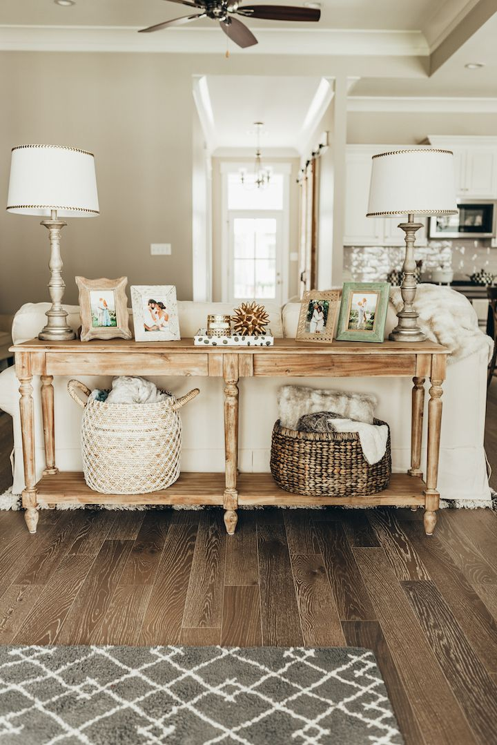 The Perfect Foyer Table Haute Off The Rack Sofa Table Decor Farmhouse Sofa Table Diy Sofa Table