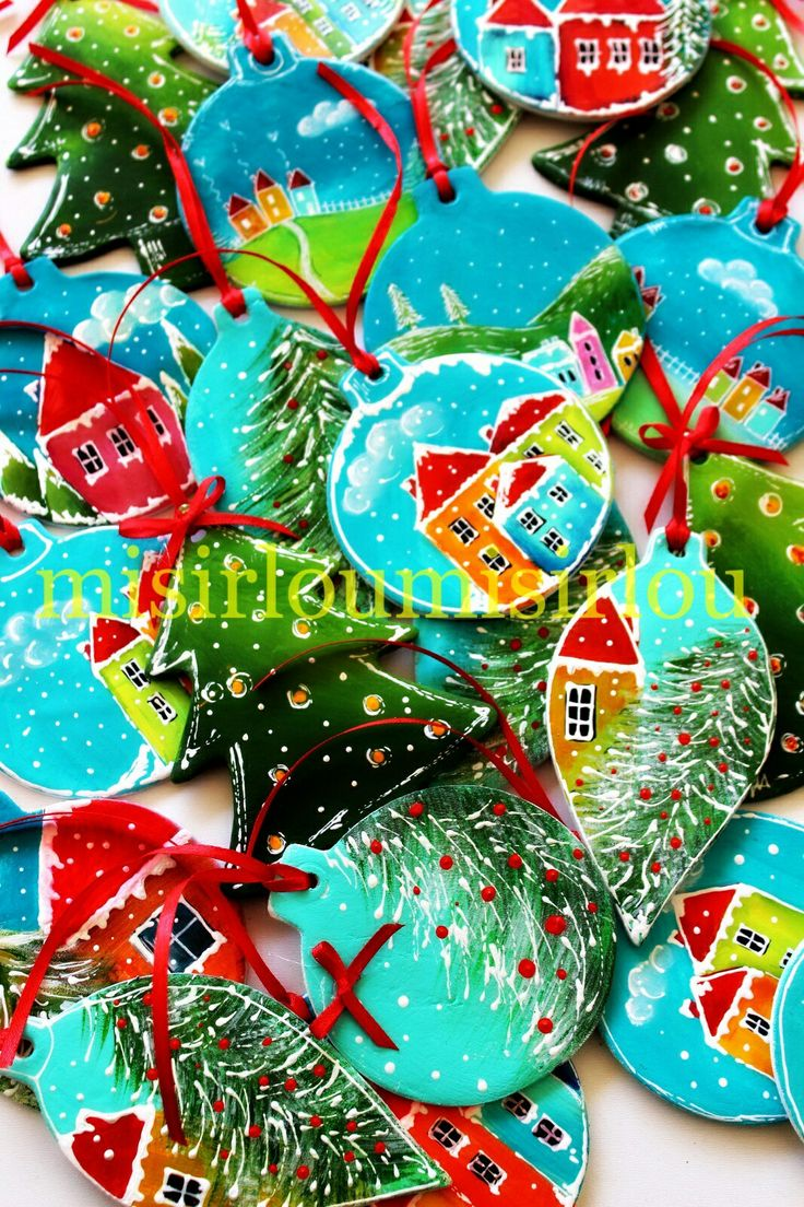 #christmasdecorations #christmasornament #christmastree #christmaseve  #christmascharms #mixedmediachristmas #clayornaments #Christmas ideas