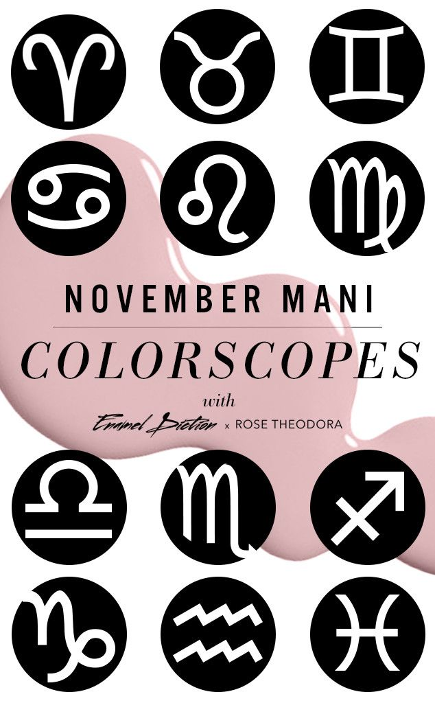 november colorscopes from mani horoscopes best nail colors for november astrological sign and. Black Bedroom Furniture Sets. Home Design Ideas