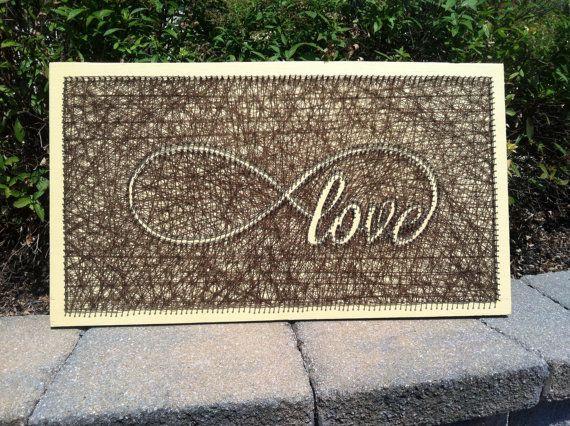 Unendlich Liebe String Kunst groß von JustStrung auf Etsy