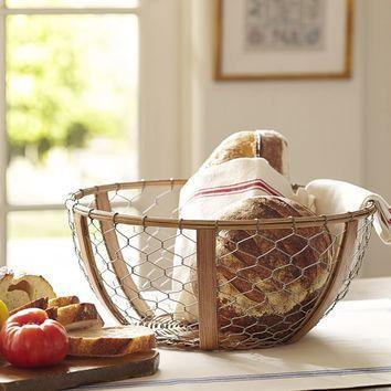 Wire bread basket  #Farmhouse #Kitchen #Rustic #Home #Country #Decor