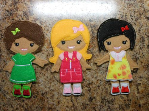 In the hoop dress up bff girl doll embroidery machine